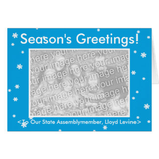 SEASON'S GREETINGS! Customizable My Dog Votes Card