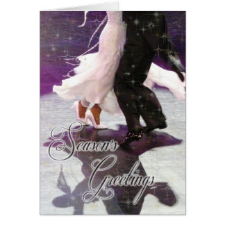 Season's Greetings Dancers PERSONALIZED Greeting Card