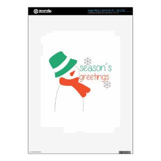 Season's Greetings Decal For iPad 3