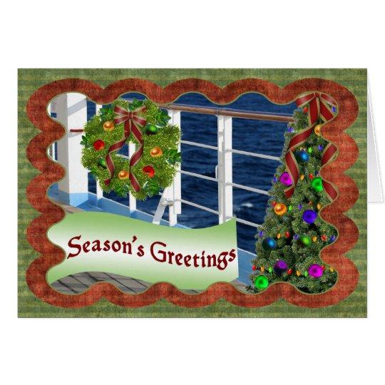 Season's Greetings, Decorated Cruise Ship Deck Card