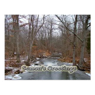 Season's Greetings Deep Creek in Ice Postcards
