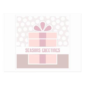 Seasons Greetings Design Postcard