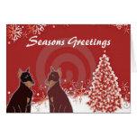 Seasons Greetings Dobies Stationery Note Card