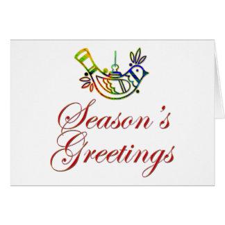 Season's Greetings Dove Christmas Design Card