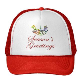 Season's Greetings Dove Christmas Design Mesh Hats