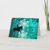 Season's Greetings Dressage Horse Christmas Holiday Card