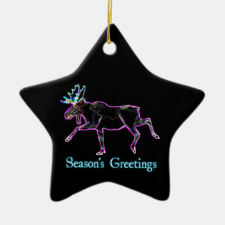 Season's Greetings - Electric Moose Ceramic Ornament