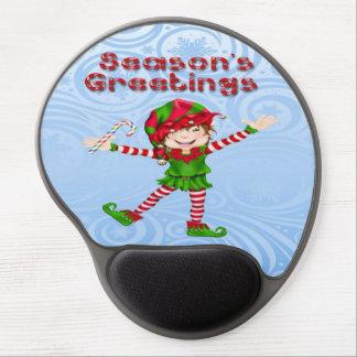 Season's Greetings Elf Gel Mouse pad