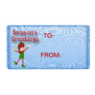 Season's Greetings Elf Gift Tags