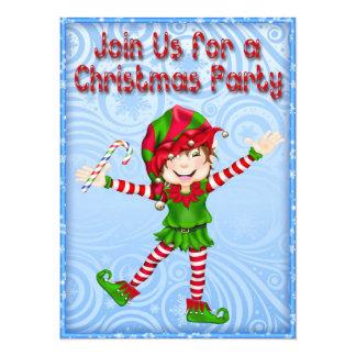 Season's Greetings Elf Invitations