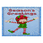 Season's Greetings Elf Poster/Print Poster