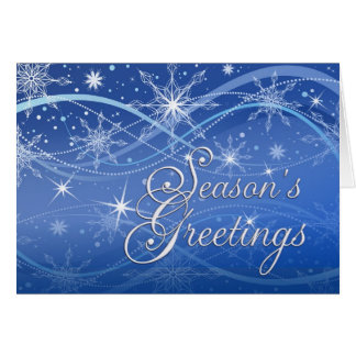 Season's Greetings - Fancy Snowflakes Holiday Card