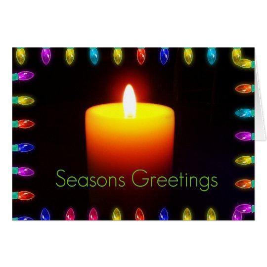 Season's Greetings Flame Card
