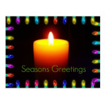 Season's Greetings Flame Postcards