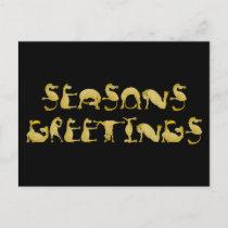 Seasons greetings flexi pony holiday postcard
