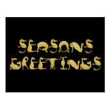 Seasons greetings flexi pony post cards