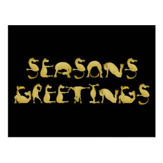 Seasons greetings flexi pony postcard