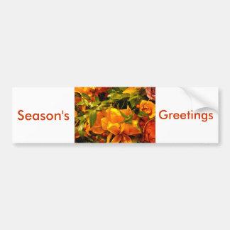 Season's Greetings Flowers Bumper Sticker