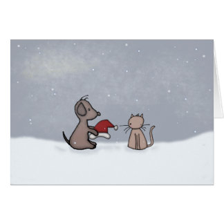 Season's Greetings Friends Greeting Card