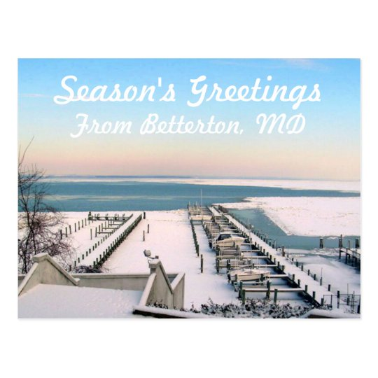 Season's Greetings from Betterton, MD Postcard