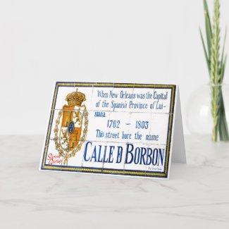 Seasons Greetings from Bourbon Street card