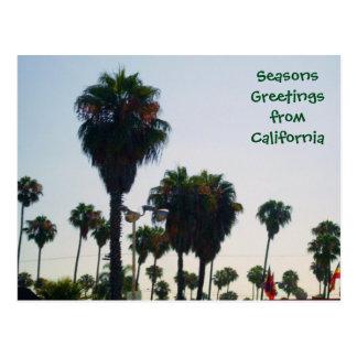 SEASONS GREETINGS FROM CALIFORNIA postcard