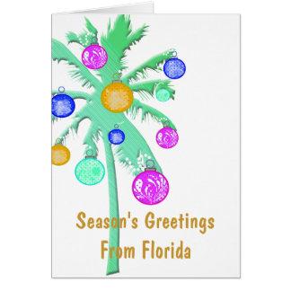 Season's Greetings From Florida Card