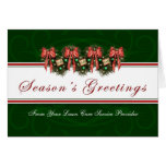 Season's Greetings - From Lawn Care Service Card