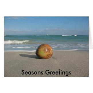 Seasons Greetings from Paradise Greeting Card
