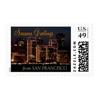 Seasons Greetings from San Francisco Postage Stamps
