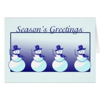 Seasons Greetings from Snowmen Card