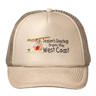 Seasons Greetings From The West Coast Trucker Hat