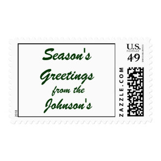Season's Greetings from the (Your Family Name) Stamp