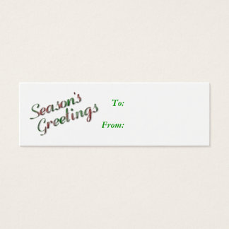Season's Greetings Gift Tag Business Card