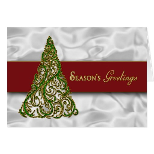Season's Greetings - Green Tree Greeting Cards