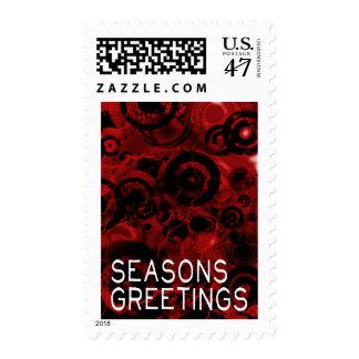 Seasons Greetings Greeting Card 13 Postage Stamp
