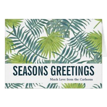 Beach Themed Seasons Greetings Greeting Card Custom Template