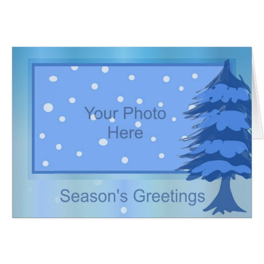 Season's Greetings Holiday Card (Template)