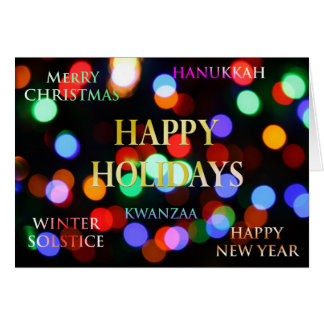 Season's Greetings, Holiday Greeting Card