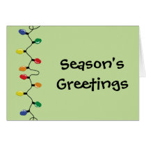 Seasons Greetings Holiday Lights Card