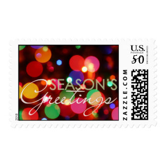 Season's Greetings • Holiday Lights Postage