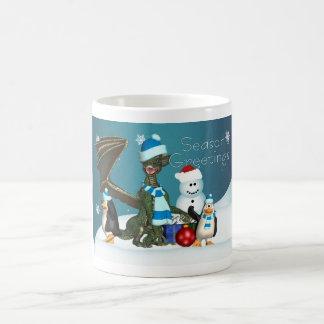 Season's Greetings, Holiday Mug With Dragon
