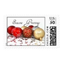 Seasons Greetings Holiday Ornament Postage Stamp