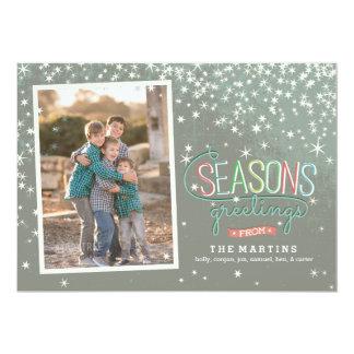 Seasons Greetings Holiday Photo Card