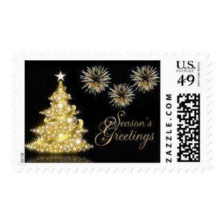 Season's Greetings Holiday Postage Stamps