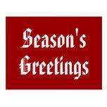 Seasons Greetings Holiday Postcard