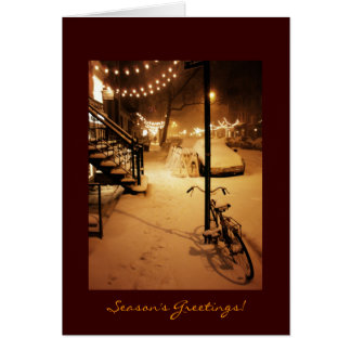 Season's Greetings - Holiday - Snowfall New York Card