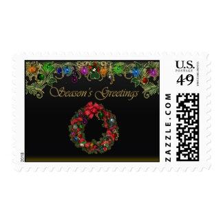 Seasons Greetings Holiday Stamp