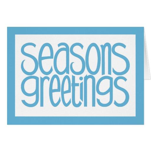 Seasons Greetings Ice Blue Card