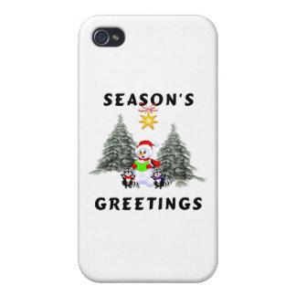 Seasons Greetings iPhone 4 Covers